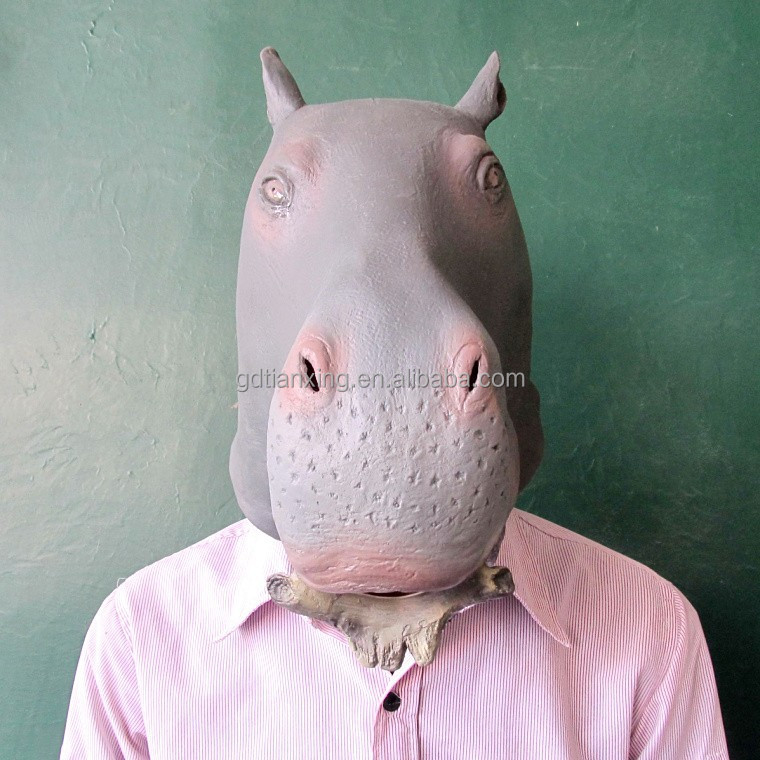 cheap price in US hippo mask, ugly animal mask
