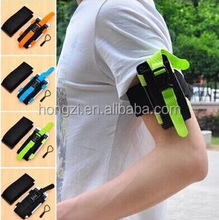 New GYM Workout Sport Arm Band Leather Cover For Mobile Phone Bag Fashion Arm Tie Run Riding Support Case For Cell Phone