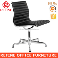 ea105 black modern executive ribbed emes leather office chair without wheels RF-S072M