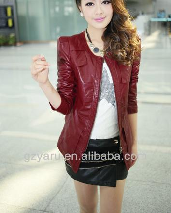 Girls Women Ladies Red Leather Jacket And Skirts Set - Buy Girls ...