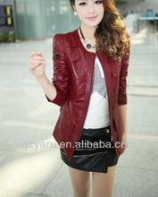Girls Women Ladies Red Leather Jacket and Skirts Set