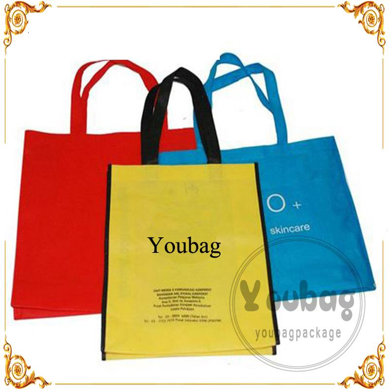 beautiful recycle travel cloth tote wholesale cross stitching non woven packing bag