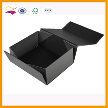 Glossy collapsible black gift boxes