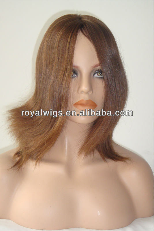 Hot Selling Brown European Hair Jewish Wig Manufacturers