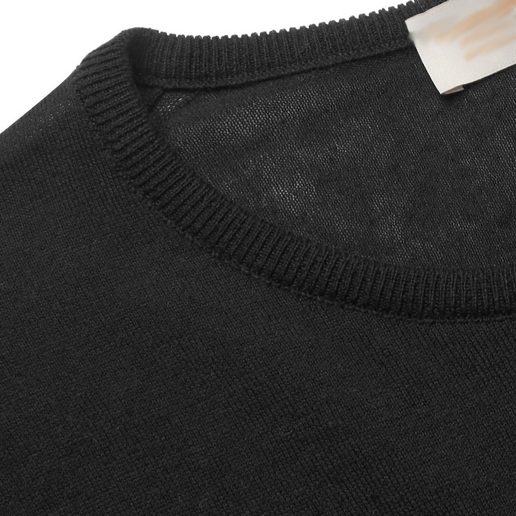Mens Custom Cotton And Cashmere Blend Sweater