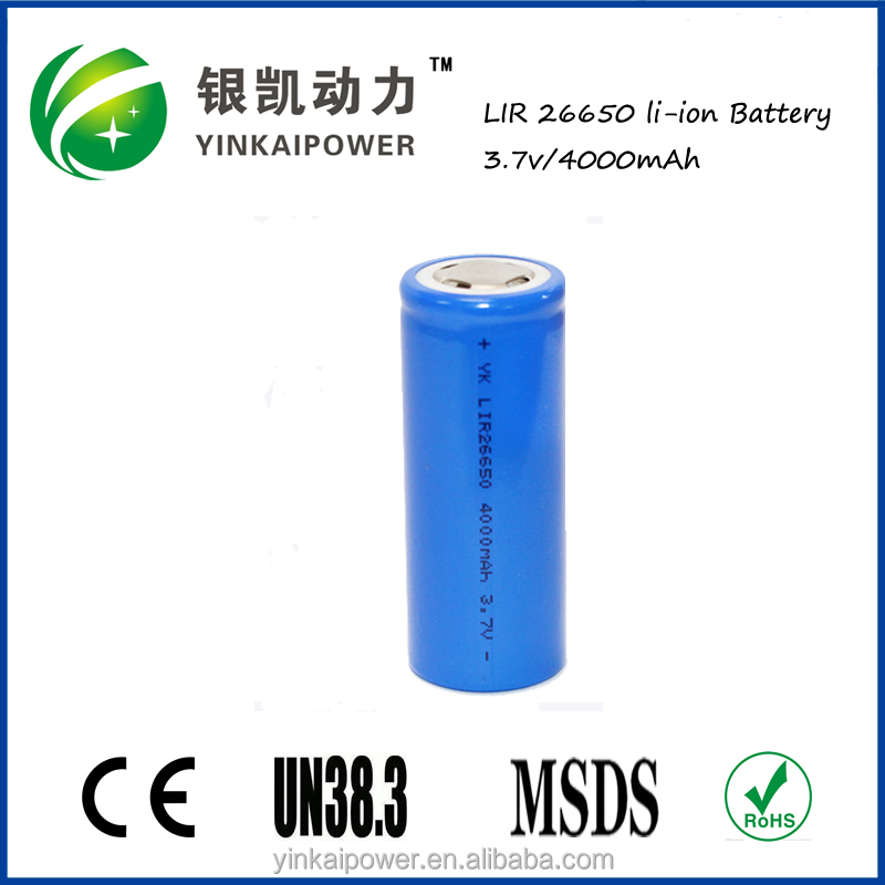 3.7V 4000mAh 18650 li ion rechargeable battery for Led lighting/UPS/Medical Equipments