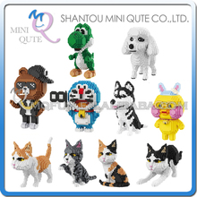 Mini Qute BALODY Kawaii Anime game cartoon dog cat animal plastic Series connect building blocks educational toy NO.16033