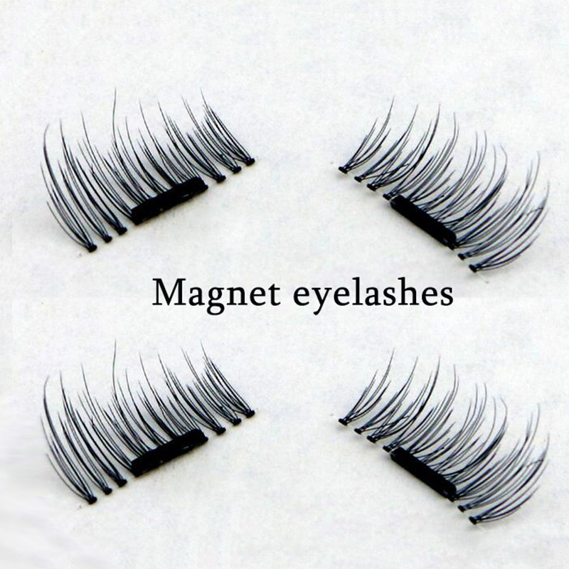 3D Magnetic False Eye lashes 100% Handmade Natural Long Magnet Eyelashes Cross Thick Eyelash Extension
