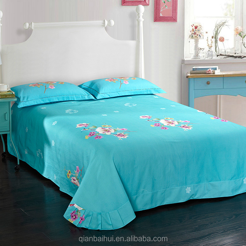 good quality 100% cotton cheap bed sheet sets with competitive price