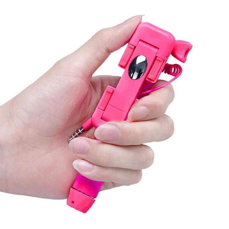 2015 super mini spiegel selfie stick vouwen handheld stok selfie houder voor. Black Bedroom Furniture Sets. Home Design Ideas