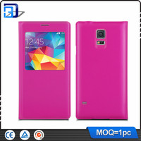 New flip window view Leather case battery cover for Samsung Galaxy S5