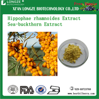 Spray dried Hippophae rhamnoides Fruit P.E Seabuckthorn Berry Powder Hippophae Rhamnoides L.Extract Powder 5:1 10:1 20:1