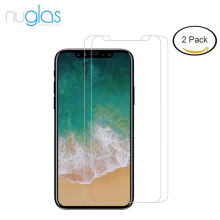 Nuglas 2pack tempered glass screen protector for iphone X anti scratch anti shatter