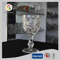 Crystal Big Diamond Pattern Decoration Glass Goblet