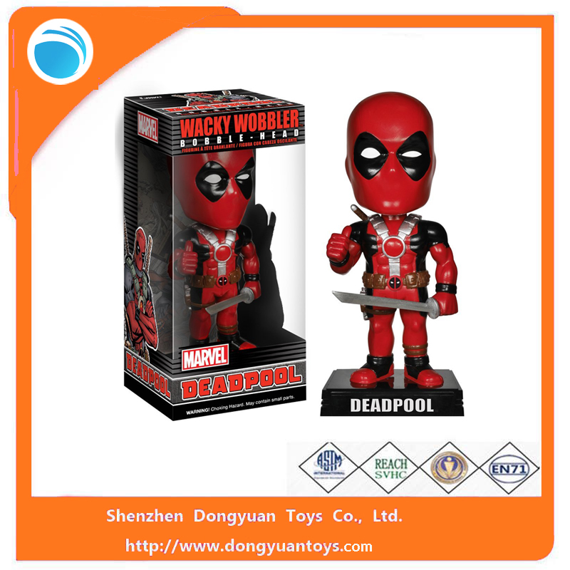 ICTI Factory Custom Deadpool Wacky Wobbler/Bobble Head Figure Toys