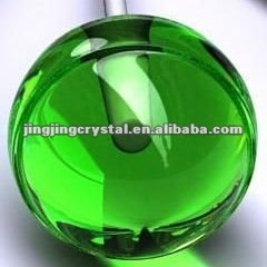 Fashion Green Crystal Glass Ball With Holes For Decorction