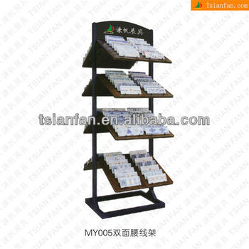 Convenient Durable Metal Two-Sided Mosaic Tile Stand Natural Stone Display Rack