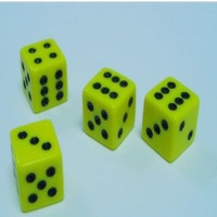 2015 Promotional Fashion Square Different Colored Glowing Dice