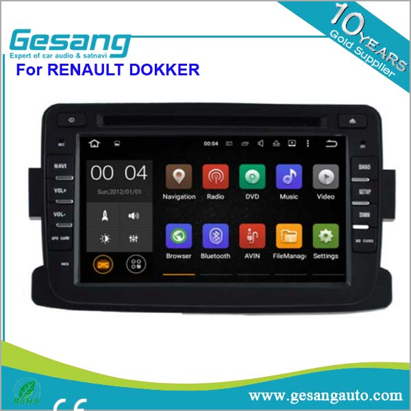 7 inch car GPS navigation with built-in 4GB memory and free map android car dvd player for RENAULT Dokker