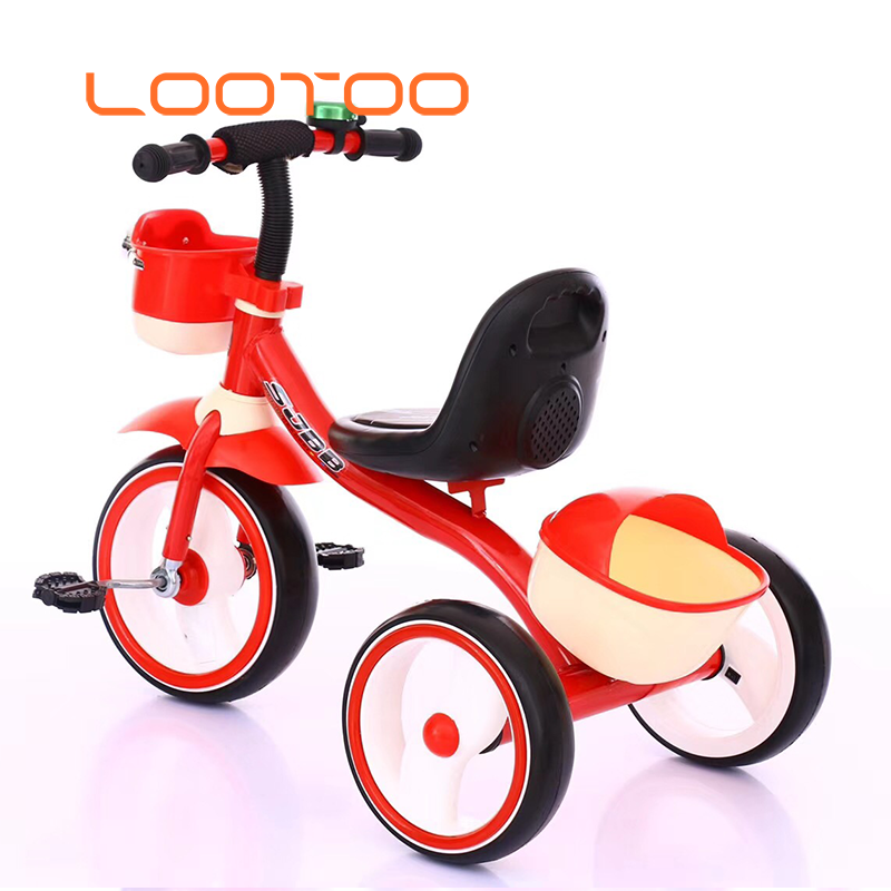 Manufacture wholesale good price <strong>3</strong> portable tricycle baby trike children three-<strong>wheeled</strong> <strong>bicycle</strong> with music for toddler