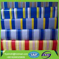 pvc striped tarpaulin ( coated and laminated tarpaulin at any gsm as customers required)