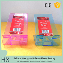Directly manufacture plastic folding tablet stand factory direct sale fashional plastic cell phone stand