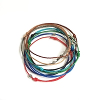 Fashion Mens For Him Boyfriend Bracelet Guy Wax Cord Bracelet Surf Style Surfer Bracelet