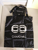 customized recycle foldable polyester tote shopping bag with a pocket
