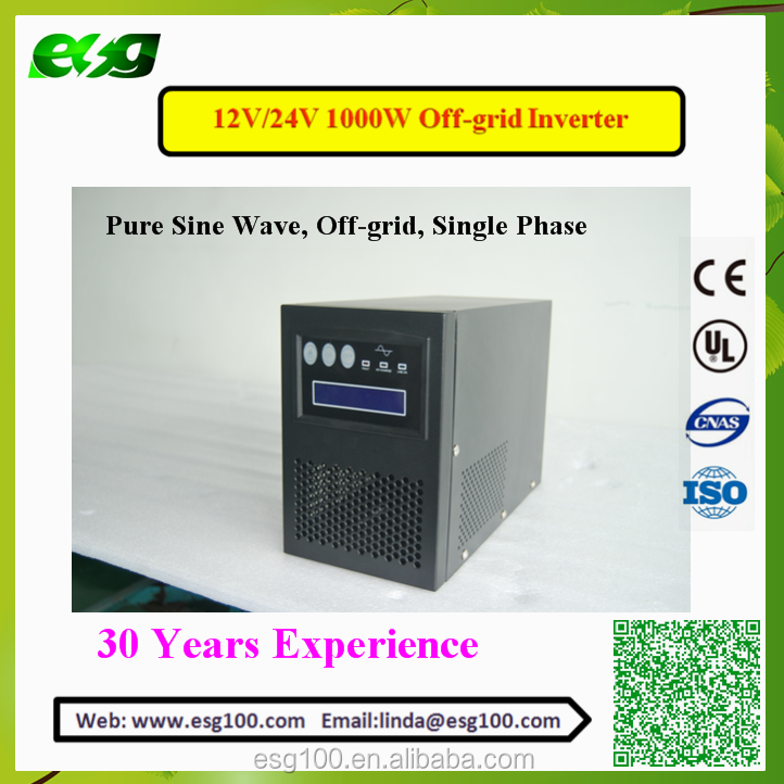 ESG New Energy 1KW High performance power solar system pure sine wave mppt grid tie solar micro inverter home system