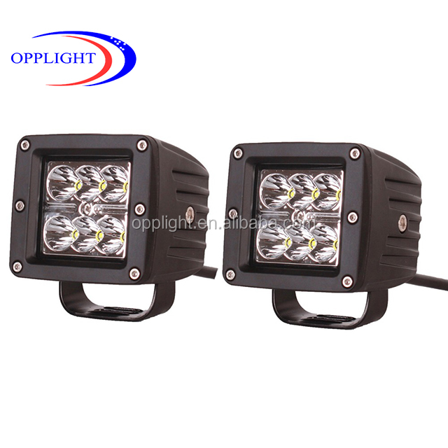 truck acessories super 4x4 off road lights 18ww spot or flood light heavy duty off road led light working led 18w