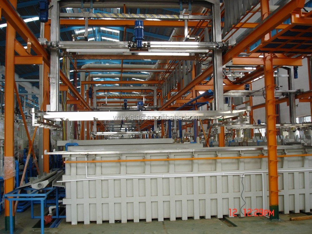 Automatic hanging type Rack Zinc Plating Line