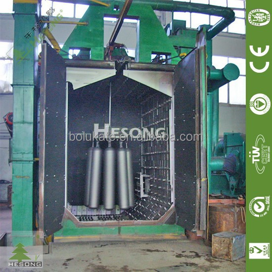 CE Approved Shot Blasting Cleaning Machine/Gas Cylinder Shot Blasting Machine