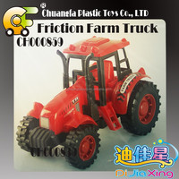 2015 new design happy friction farm tractor toy for baby