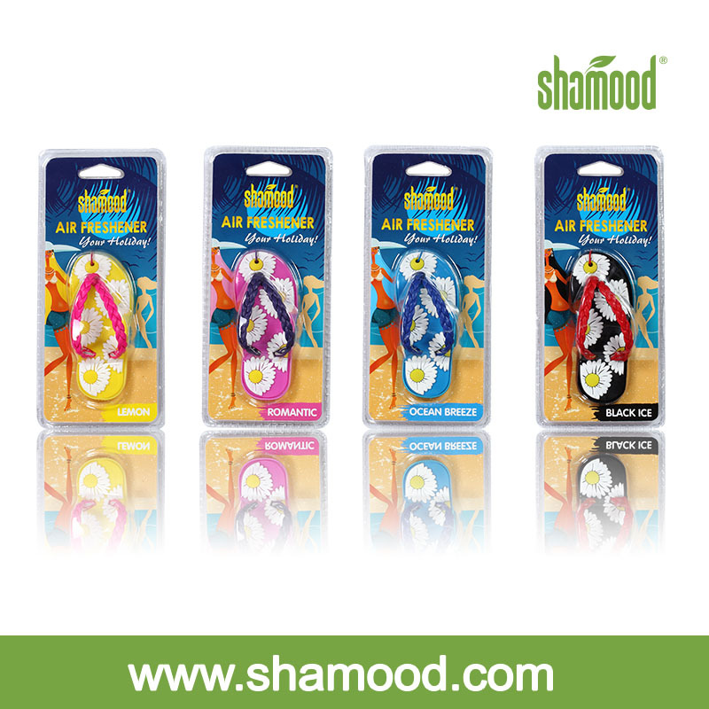 Shamood Scented Flip-Flop Car Gel Air Freshener