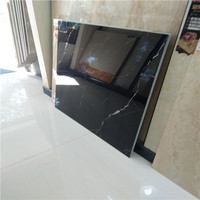 60 60 ceram floor tile black glitter/black marble tile with white veins