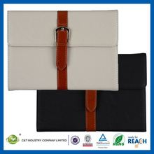 C&T Best selling protective pouch foldable belt clip leather case for ipad mini