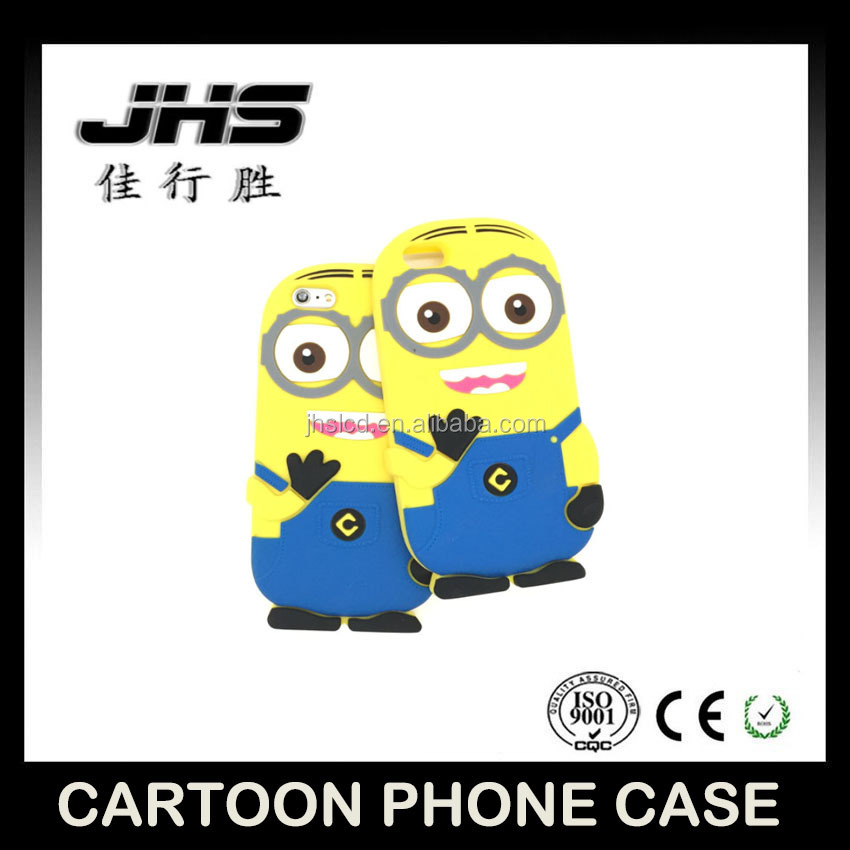 cute cartoon character phone case for iphone 5, cell phone case animal for iphone 5 little yellow man