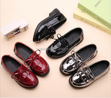 hot popular new model rubber sole pu slip on shoes for children kids
