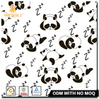 Hangzhou Wensli Custom Pattern Design Sleeping Pandas Digital Printing Silk Twill Fabric