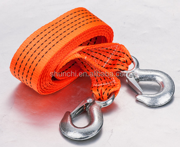 1T 2T 3T Width 5MM 8MM Length 4M Elastic heavy duty tow rope,towing rope