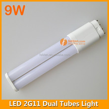 232mm 9w 4 pin pl pll lamp 2835smd 2g11 led double tubes fpl replacement