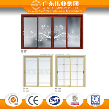 frosted decorative glass sliding door double track modern sliding door and window