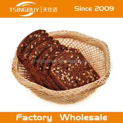 Handcraft 100% natural willow little basket bun/PP Rattsn basket with LFGB approved