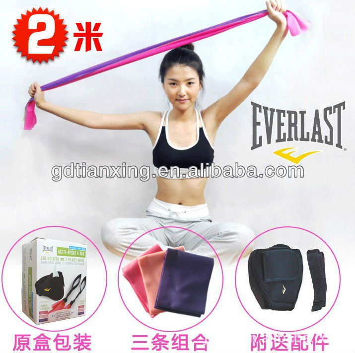 Pilates Resistance Band Kit Set Stretch Yoga Band Gym Band Tubing