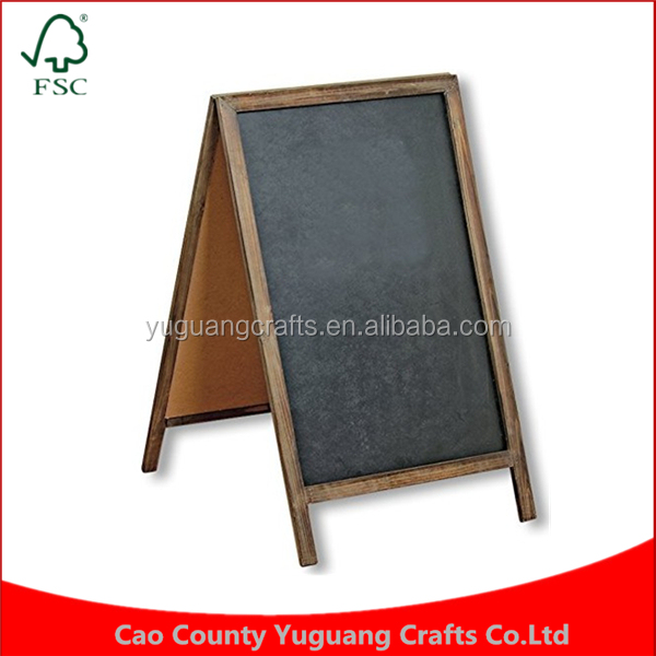 Custom Factory Price Large Sign Displays Wood Chalkboard Message Memo Board