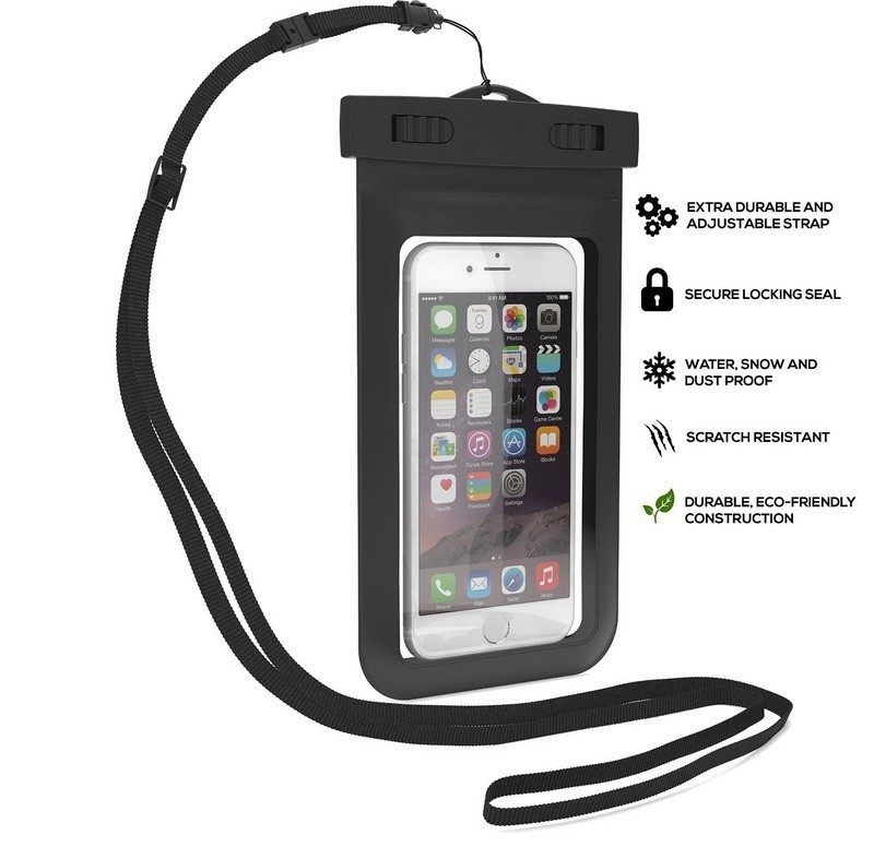 2017 new arrival Cellphone Waterproof Bag for Apple with Neck strap