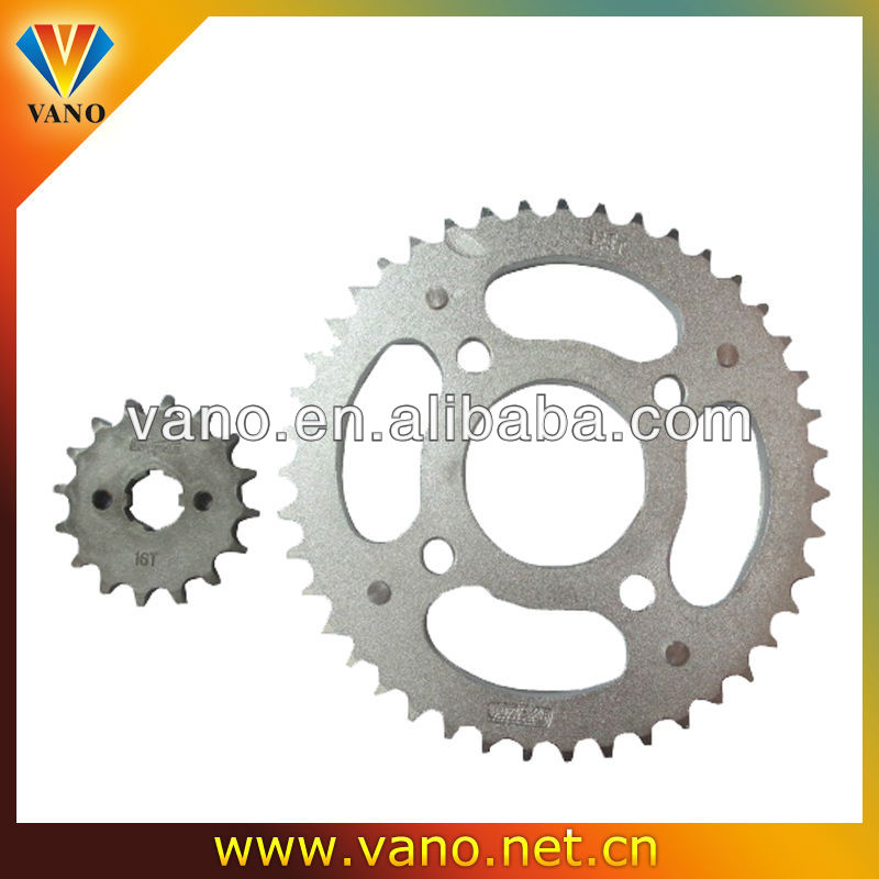 Good quality motorcycke YBR125 sprocket set