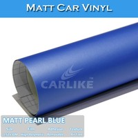 Air Bubble Free Matt Pearl Blue UV Protection Vinyl For Car Protective Decoration Stickers