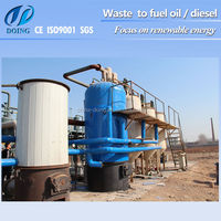 Henan DOING Hot Higher Oil Yield Waste Tire Pyrolysis Machine to Recycle Fuel Oil