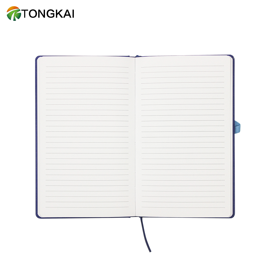 Custom Logo Classic A5 Leather Diary Notebook with Elastic Band